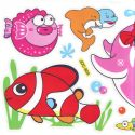 Bathroom and Window stickers, Plastic, Assorted colours, 56cm x 21cm, 1 sheet, (JDC183)